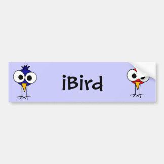 DD- Funny Bluebird Art Cartoon Bumper Sticker