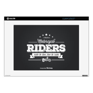 "DD Motorcycle Riders T Shirt Design 76009.ai Skins For 15"" Laptops"