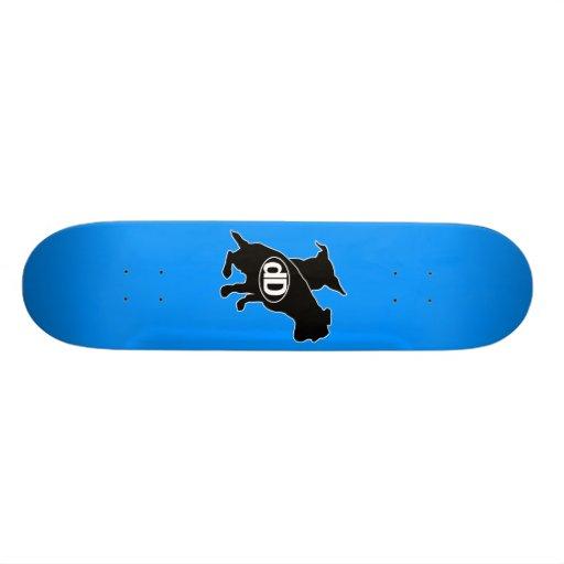 dD Signature Board Blue Skate Board