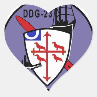 DDG-23 USS RICHARD E BYRD Navy Guided Missile Dest Heart Sticker