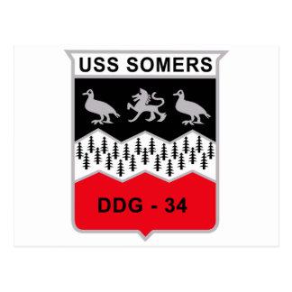 DDG-34 USS Somers Guided Missile Destroyer Militar Postcard