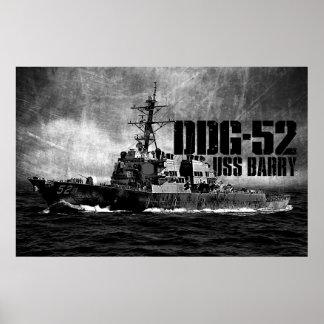 DDG-52 Barry Print