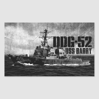 DDG-52 Barry Rectangle Stickers