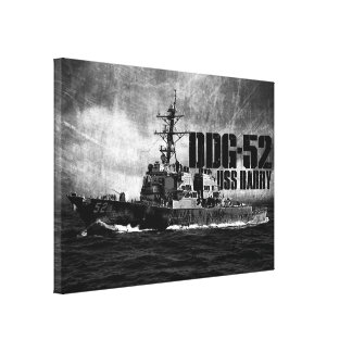 DDG-52 Barry Wrapped Canvas