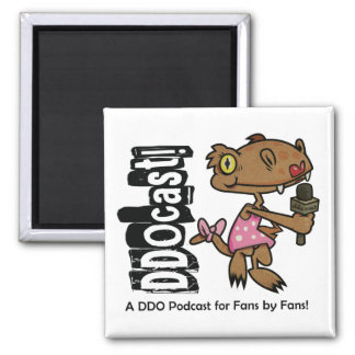DDOcast Snippiz Mascot 2 Inch Square Magnet