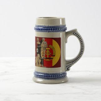 DDR east german border patrol Beer Stein