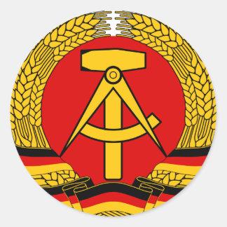 DDR escudo de armas Pegatina Redonda