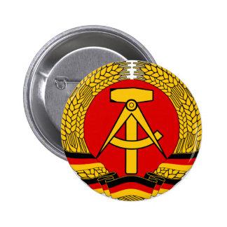 DDR escudo de armas Pin Redondo 5 Cm