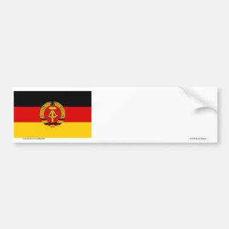 DDR German Democratic Republic Flag Bumper Stickers