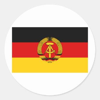 DDR German Democratic Republic Flag Classic Round Sticker