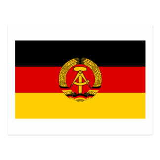 DDR German Democratic Republic Flag Postcard