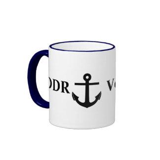 DDR Volksmarine, East German Navy Ringer Coffee Mug