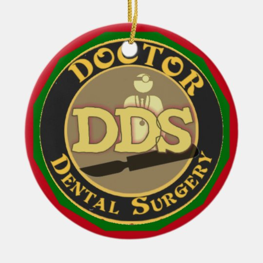 DDS DOCTOR DENTAL SURGERY LOGO CERAMIC ORNAMENT
