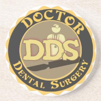 DDS DOCTOR DENTAL SURGERY LOGO COASTER
