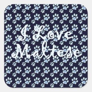 DD's I Love Dogs!!~Maltese~Sticker Square Sticker