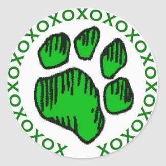 DD's I Love My Dog!! cker Classic Round Sticker