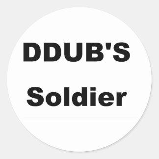 ddub soldier classic round sticker