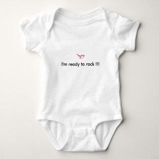 DE7 -I'm Ready to rock !!! Baby Bodysuit
