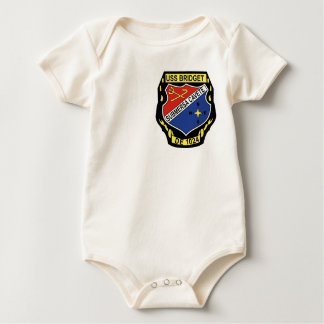 DE-1024 USS Bridget Military Patch Destroyer Escor Baby Bodysuit