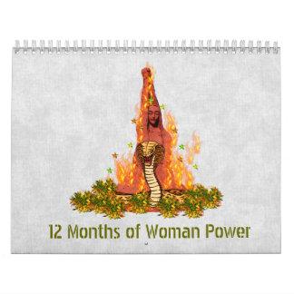 De 12 meses un poder de la mujer calendario