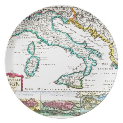 de 1706 la Feuille Map de Italia Geographicus Plato