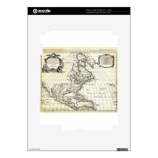 De 1708 L'Isle Map de los Covens de Norteamérica y Calcomanía Para iPad 2