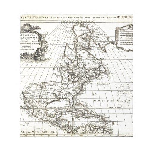 De 1708 LIsle Map de Norteamérica (Covens y MES Bloc