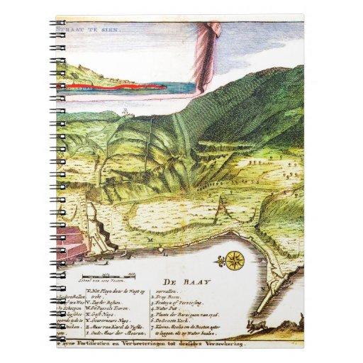 De 1720 La Feuille Map y visión de Gibraltar Geo Libreta