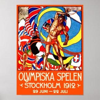 ~ de 1912 Juegos Olímpicos de Verano (el vintage Póster