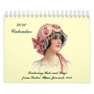 ~ de 2010 calendarios que ofrece los gorras y los