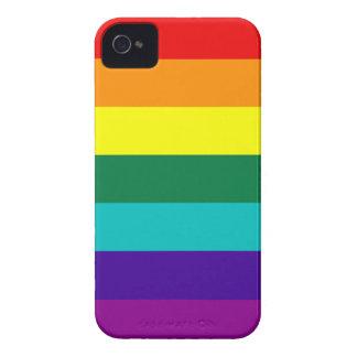 De 7 rayas del arco iris del orgullo iPhone de Case-Mate iPhone 4 Protectores