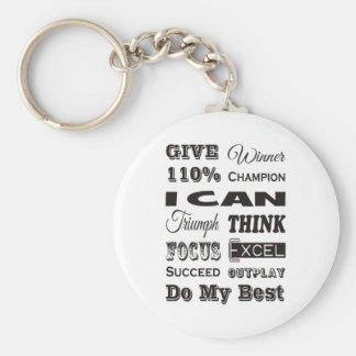 Dé a 110% de motivación inspirado llavero