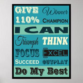 Dé a 110% de motivación inspirado póster