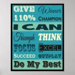 Dé a 110% de motivación inspirado posters