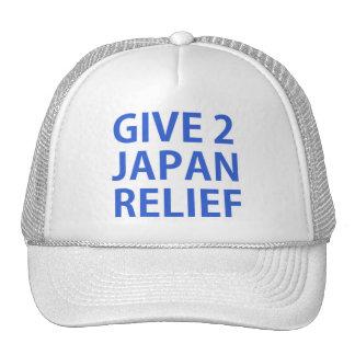dé a 2 el alivio de Japón Gorras
