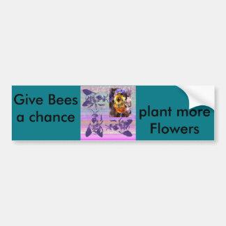 Dé a abejas un pegatina de Bumber de la ocasión Pegatina Para Auto