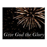 dé a dios la gloria postales