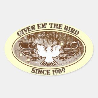 Dé a Em la caja de herramientas del pájaro Colcomanias Oval Personalizadas