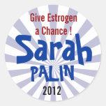 ¡Dé a estrógeno una oportunidad! Sarah Palin 2012 Etiquetas