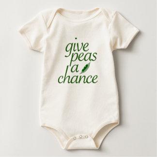 Dé a guisantes una oportunidad body para bebé