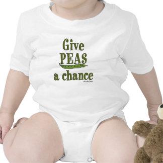 Dé a guisantes una oportunidad traje de bebé
