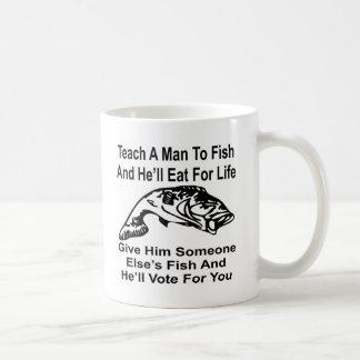 Dé a hombre algún otro los pescados y él votará taza básica blanca