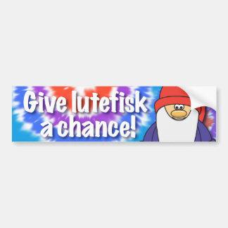 Dé a Lutefisk una pegatina para el parachoques de  Pegatina Para Auto