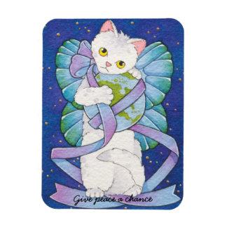 Dé a paz un gato de la ocasión imán de hadas Mouss