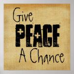 Dé a paz un poster de la ocasión