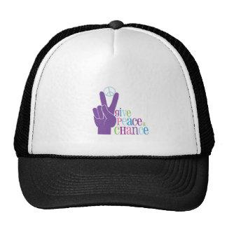 Dé a paz una oportunidad gorra
