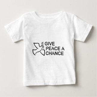 Dé a paz una oportunidad playera de bebé