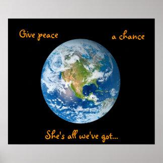 Dé a paz una oportunidad póster