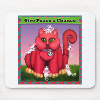Dé a paz una oportunidad tapete de raton