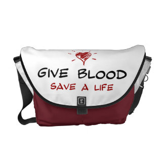 Dé a reserva de la sangre a la vida bolsas messenger